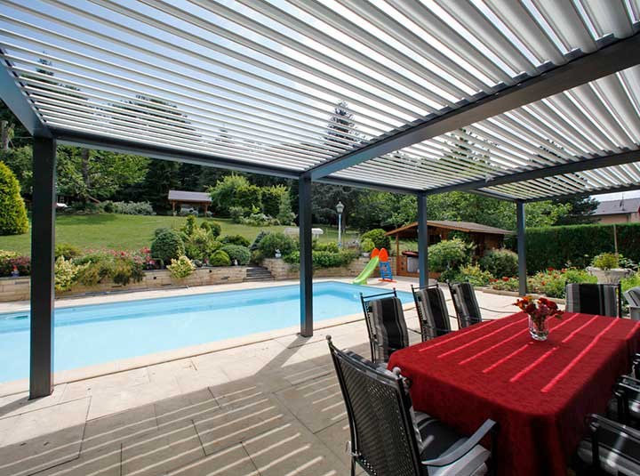 Aluminim Pergolas by Euroblinds Cyprus, Outdoor Systems
